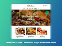 Foodbook Recipe & Food Community Theme