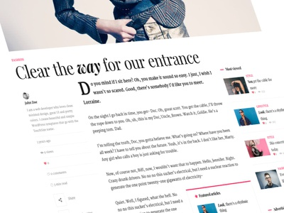 Single post article vertical mailchimp dropcap style fashion article blog minimalist clean wordpress single meta