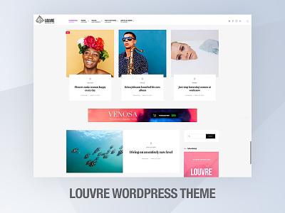 Louvre - Minimal Magazine / Blog Theme touchsize louvre logo cards article wordpress magazine