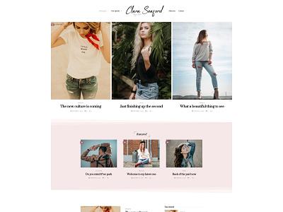 Seaford WordPress Theme - Fashionist Blog Version touchsize meta article grid lifestyle blog stylish wp wordpress fashion blog fashion blog