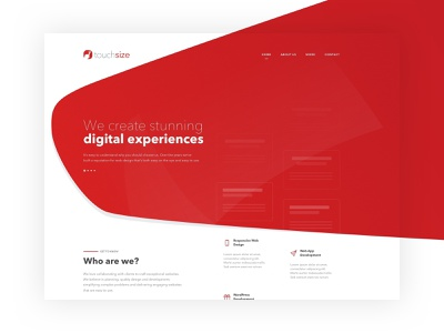 New TouchSize Website web design company wp wordpress front-end development agency web design web development touchsize