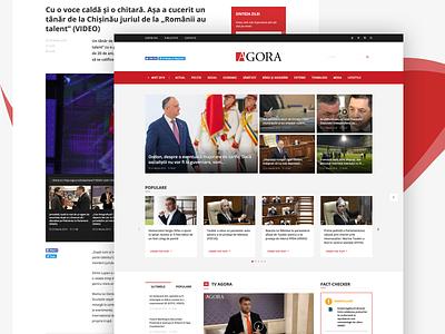 Leading News Website Design - Agora article page articles cards mosaic article news newspaper design agora
