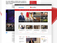 Leading News Website Design - Agora