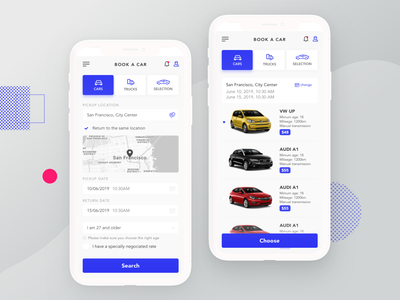 Car Rental Booking App application iphonex iphone app dashboard app dashboard booking app bookings booking car