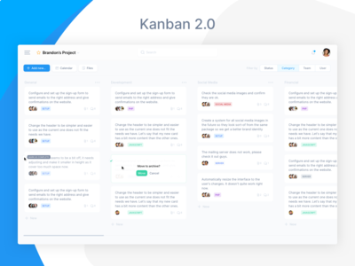 Kanban Redesign for Customer Project Management Software