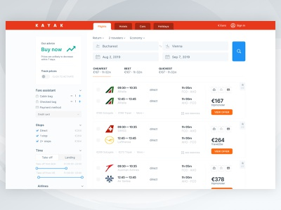 Kayak Website Redesign bookings kayak touchsize booking app flight search landing flights flight booking flight