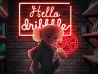 Hello Dribble Neon