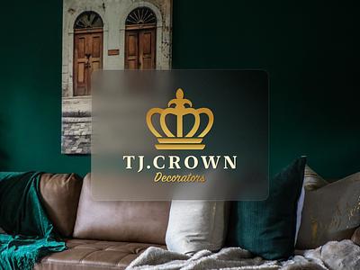 Classic Logo Design (TJ Crown Decorators) classic minimal logo vector typography branding illustration design
