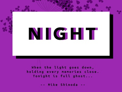 Night quote poster