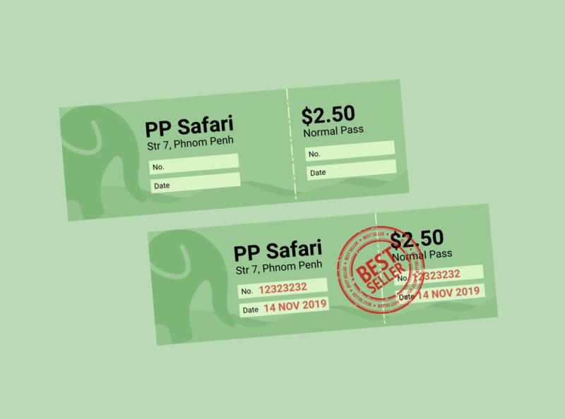 Ticket Design ticket vector poster illustration flat typography design