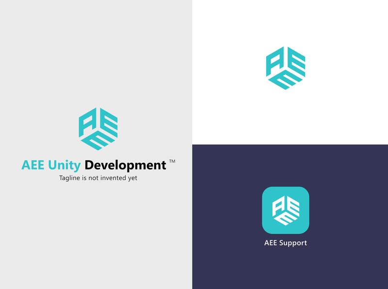 AEE Logo Design app icon logo branding illustration design