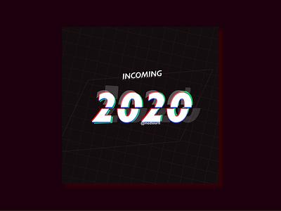 2020 glitch glitch new year 2020
