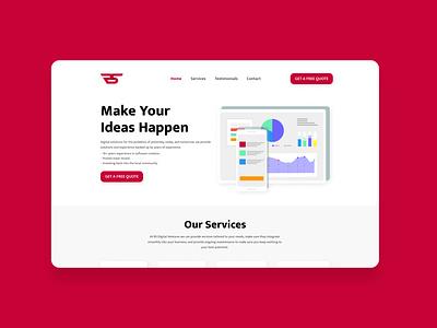 Software Agency Web Design red webdesign web flat branding typography illustration design