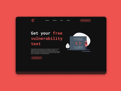Upcoming Launch Ronin Pentest Project red black landingpage webdesign web flat branding typography design