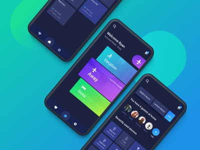 'Switch' App nightmode blackui creative trending popular bluegreen lights mobileapp uiux