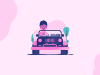 Riding a Jeep
