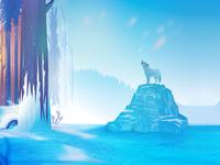 Fox in the Snowfall_ Illustration