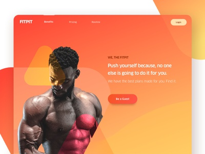 Body Builder gym illustration interaction muscular design google colour home page design home landing page design landing page fitness dribbble website design website concept website triangle body building body builder bodybuilder