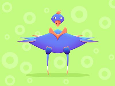 alien15 avatar colorful draw paint bird alien game art design illustration