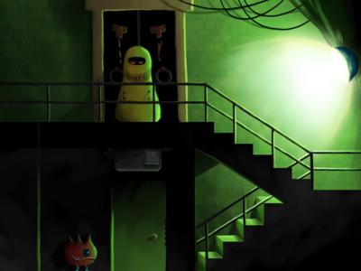 Gloomy stairwell