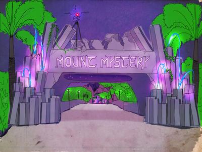 #ArmchairImagineering: Mount Mystery Land Entrance walt disney world walt disney theme park design theme park sketch procreate disneyland armchair imagineering imagineering disney