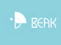 Beak Logo - Circle Grid X-Ray