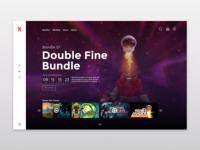 Humble Bundle Homepage Redesign - Double Fine Bundle
