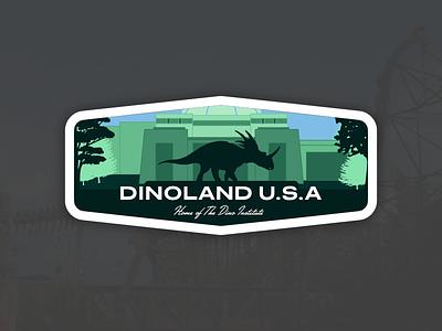Animal Kingdom Badge – Dinoland U.S.A. disney world ride theme park styracosaurus outline vector dinoland usa dinosaur disneys animal kingdom disney animal kingdom