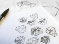 Pandora Badge – Process Sketch