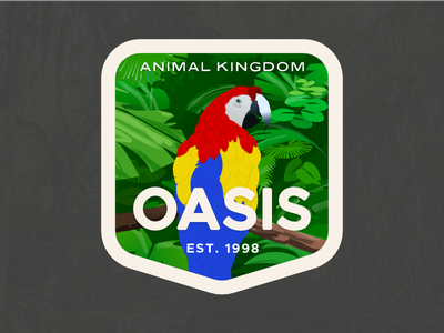 Animal Kingdom Badge – Oasis affinty jungle badge hunting badge oasis parrot walt disney world disneys animal kingdom disney animal kingdom