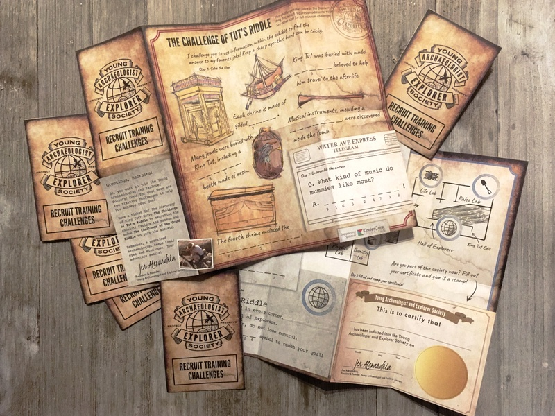 Young Archaeologist and Explorer Society – Map map science museum badge logo explore design branding brand distressed badge archaeology