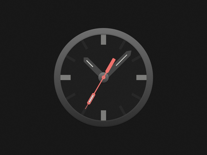 Clock Icon - Dark Version timer osx icon os icon mac os icon mac icon clock icon app icon app time nite night dark clock watch