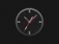 Clock Icon - Dark Version