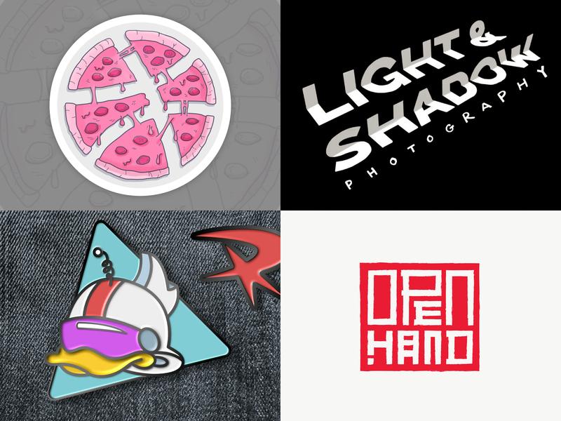 2018 Top 4 Shots vector brand martial arts sticker enamel pin pin logo photography red karate disney ducktales pizza branding