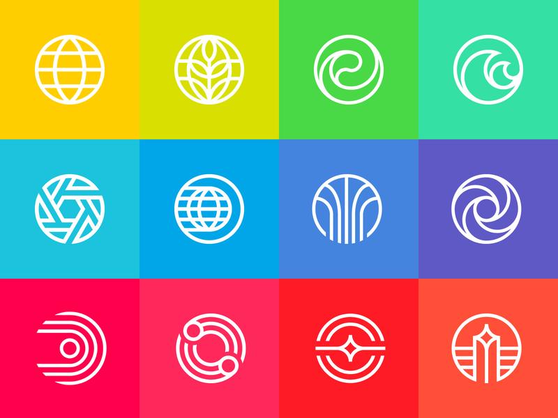 D23 - New Epcot Logos Recreation d23 walt disney color circle vector logos walt disney world disney world modernist modern disney