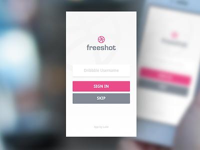 Dribbble App Freeshot ios freeshot dribbble app