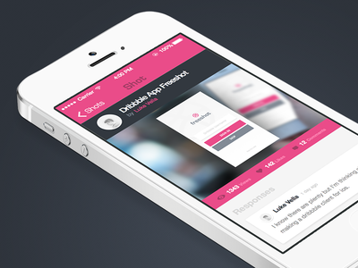 Freeshot Shot Screen iphone ios freeshot app shot flat