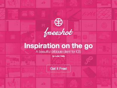 Freeshot App Official Launch! freeshot app launch landing iphone ios