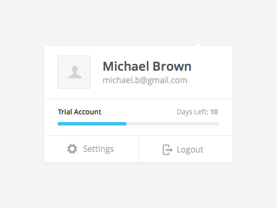 Account Menu account menu dropdown