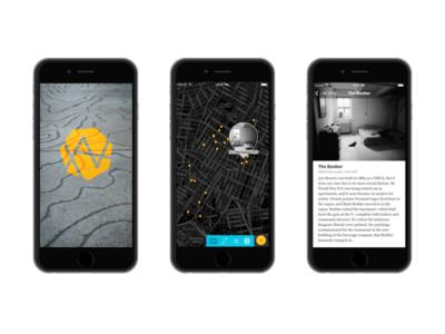ArtWalk iOS App artwalk ios map dark art tour article
