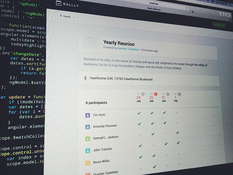 [WIP] Rallly Web App rallly event web app schedule poll webapp