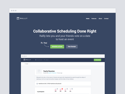 [WIP] Rallly Landing Page landing page webapp web app rallly scheduling