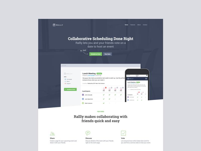 Rallly Launch rallly event web app schedule poll webapp