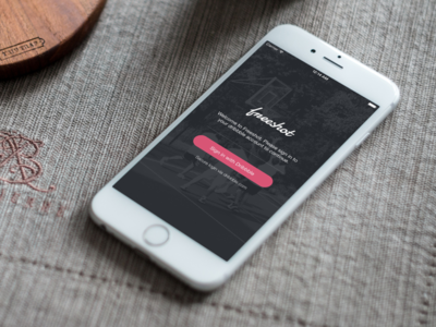 Update to Freeshot Dribbble Client - Coming Soon ios iphone mobile login connect dribbble client freeshot