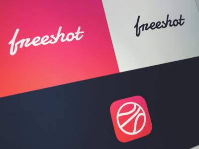 Freeshot Branding logo icon ios app typography branding freeshot dribbble client