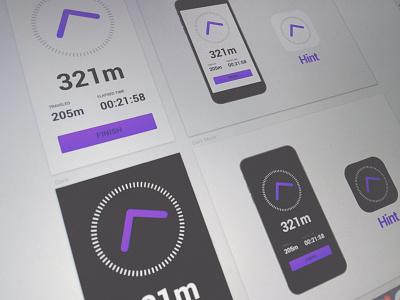 [WIP] Navigation App odometer compass pointer arrow app ios navigation