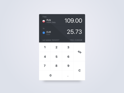 Currency Conversion App Concept numbers money ios conversion currency