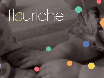 Flouriche logo and brand daycare logo identity children