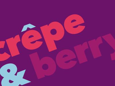 C&B logo logo food restaurant colorful purple blue pink crepe avenir fat type typography ampersand