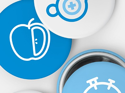 Regence buttons blue buttons icons